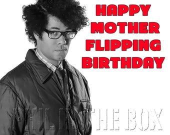 IT Crowd birthday card, Moss birthday card, Geeky birthday card, funny birthday card, Richard Ayoade birthday card, card for geek, nerd card