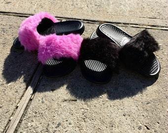 Nike All Fur Slides