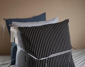 Classic Stripe Reclaimed Fabric Pillow
