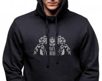 Men Urban Hoodie without pocket, Art print