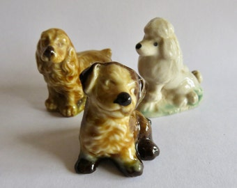 Wade Whimsies Spaniel, Mongrel and Poodle (set of 3)