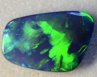 Super Bright Solid Natural Australian Lightning Ridge Genuine Black Opal 14000