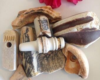 Rustic, Beach Pottery, Unique Beach Finds, Ceramic Pottery Vintage, Sea Pottery, Beach Finds, Nautical, Sea Treasures, Electric Insulators