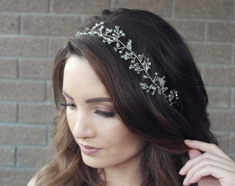 Bridal Hair Vine, Bridal Hair halo, beaded vine, bridal hair accessories