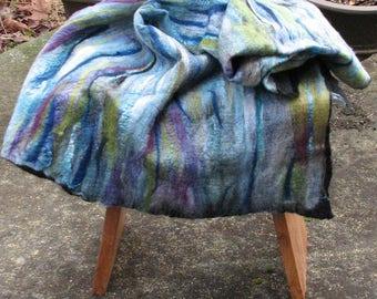 Tree Island Nuno felted wrap