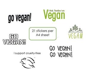 Vegan Cruelty-free Sticker Pack Stickers