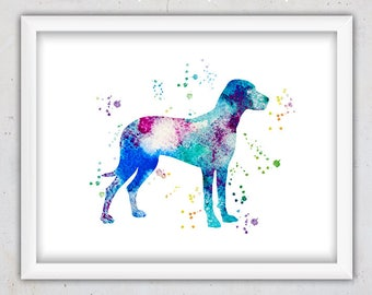 Nursery Dog Print, Dog Digital Art, Printable Art, Download Watercolor Dog Print, English Pointer Print, Watercolor, Gift for Dog Lovers Art