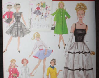 Simplicity 5785  11 1/2in Barbie Fashion Doll Clothes