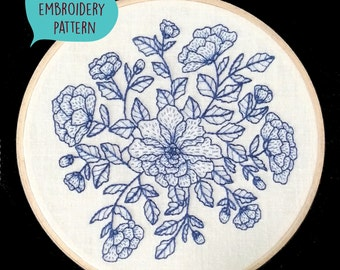 PDF embroidery pattern for Floral by galemofre