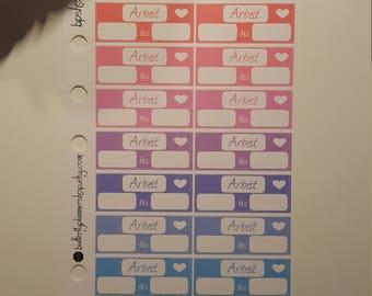 Planner work stickers stickers