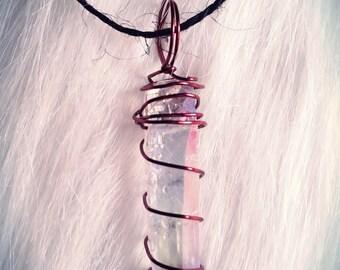 Quartz Wire Wrap Necklace