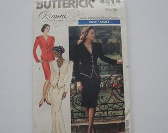 Sewing Pattern Women's Top and Skirt Uncut US 6, 8, 10 Butterick 4514