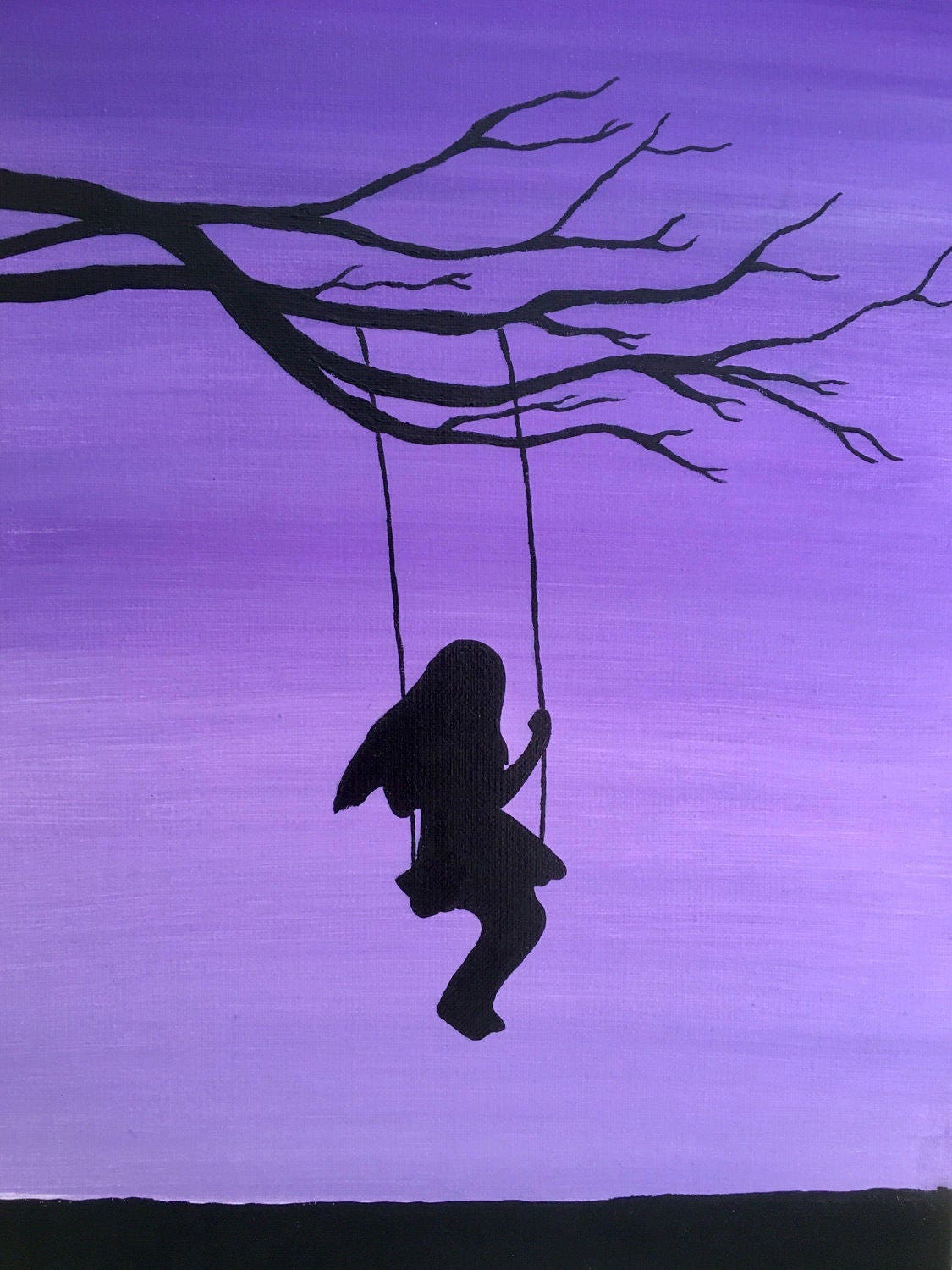 Girl on Swing Painting...