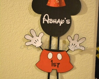 Mickey Mouse Birthday Door Sign