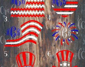 Flag , American Flag Monogram , 4th of July, Fourth of July, Flag Decal, American Flag Decal, Yeti Flag Decal