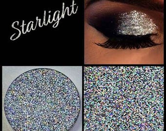 Starlight Silver Multi Tonal Pressed Glitter Eyeshadow