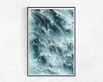 Ocean Print, Ocean Photography, Modern Minimalist, Coastal Print, Coastal Wall Art, Ocean Wall Art, Seascape, Printable Art