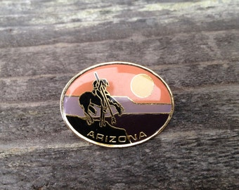 Arizona Pin, Vintage Arizona Pin, Retro Arizona Pin, Arizona Sunset