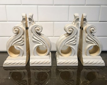 Decorative Curtain Sconces, Book Ends Set of 4