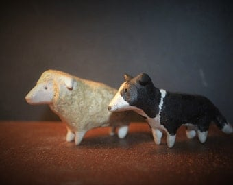 Benny the Border Collie and Sally the Sheep