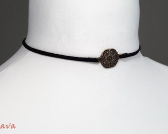 Choker collar necklace retro charm pendant