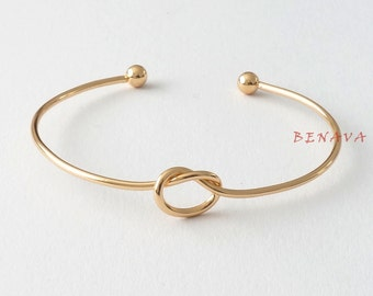 Bracelet Bangle node gold