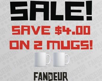 SALE Buy 2 Geeky Mugs, Save 4 Bucks!