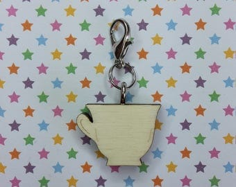 Tea cup - progress keeper - knitting notions - charm