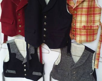Boys' woolen traditional vests
