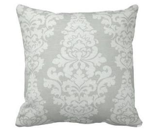 Damask Throw Pillow Cover - Grey and White Pillow - Grey and White Damask Pillow - Grey and White Pillow - Gray and White Pillow