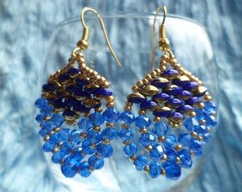 Blue Chandelier Earrings.