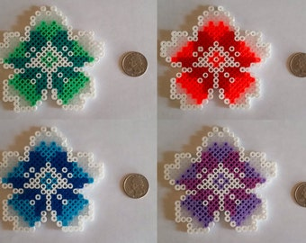 Flower Coaster Set Perler Beads