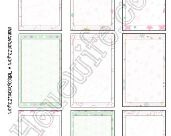 Happy Planner stickers [183] , Full box, A5 PDF, Instant download