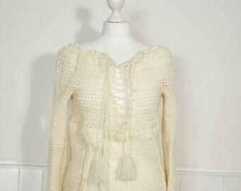 Vintage Crochet Jumper