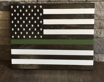 Army Flag Wooden Sign