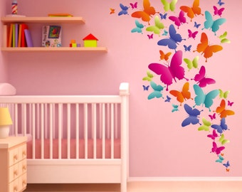 004 wall decals colorful butterflies nikima * in 6 verse. Sizes