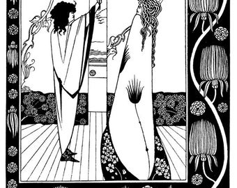 Aubrey Beardsley Illustration From L' Morte D' Arthur  Of Sir Tristam  A3/A2 Poster Reprint