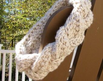Crochet Braided Headband (Cream)