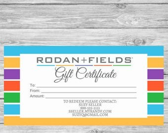Rodan and Fields Gift Certificate - Check Style - Rodan + Fields