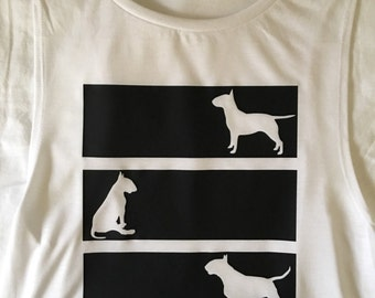 Ladies The Bully Shop trio design muscle tee
