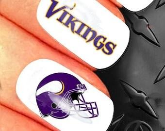35 Nail Art Decals - NFL Minnesota Vikings nail design - n27