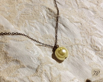 NECKLACE CHAIN, necklace Pearly Pearl, Pearl ivory, fine necklace, gift refined, Christmas gift, Christmas jewelry, gift friendship.