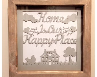 Home is our happy place wall hanging