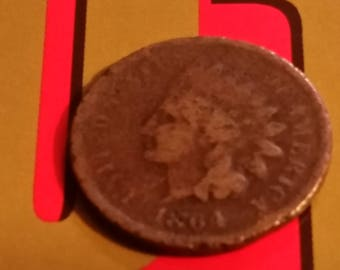 1864 Indian Head cent old US coin  #M305