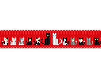Cats In Love Bracelet PDF Pattern