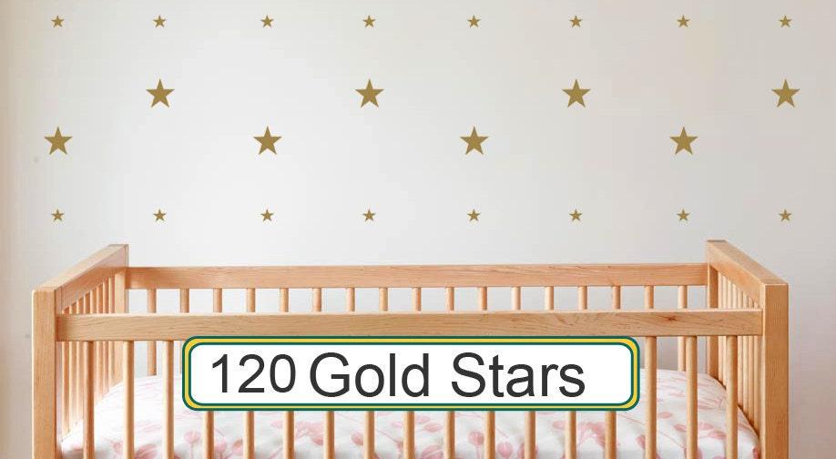Gold Star Wall Decor: Star Wall Decals Gold Vinyl Star Decals Nursery Bedroom