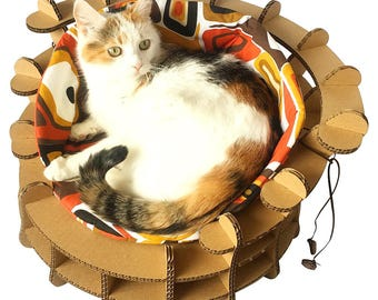 Captivating Colliseum Cat Bed, Unique Cat Furniture, Cat Toy, Unique Cat Bed, Pet