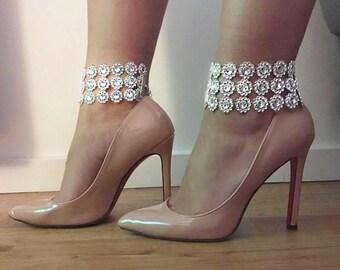 Leg accessories choker cuff diamond crystal bridal wedding