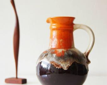 West Germany Vase , Ü-Keramik Übelacker. Mid Century