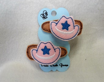 Girls Cowboy Hat Barretts